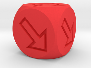 Accuracy Dice in Red Processed Versatile Plastic