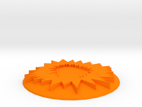 Nova Cannon Template in Orange Processed Versatile Plastic