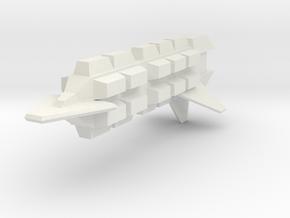 3788 Klingon frieghter in White Natural Versatile Plastic