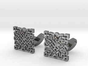 Infinity Knot CuffLinks (Pair) in Polished Silver