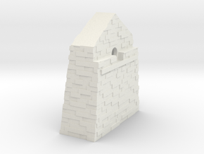 Slate Incline Winding House Wall - OO9 Scale in White Natural Versatile Plastic