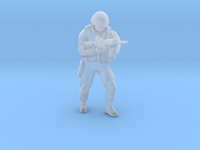 Soldier-sq-4 in Smooth Fine Detail Plastic