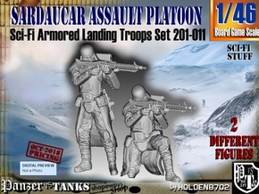 1/46 Sci-Fi Sardaucar Platoon Set 201-011 in Smooth Fine Detail Plastic