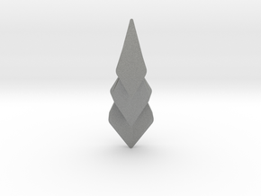 Hidden Hearts 101 ,pendant in Gray Professional Plastic