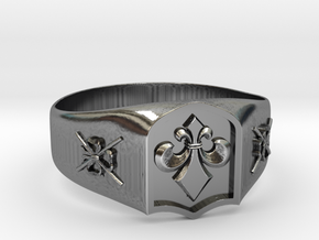 Fleur-de-lis and the Director of Ceremonies Ring in Antique Silver