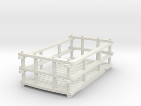 Dinorwic style Slate wagon in White Natural Versatile Plastic