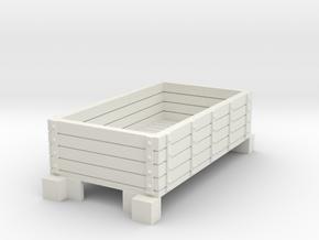 Narrow gauge wagon type3 in White Natural Versatile Plastic
