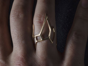 Triple Spear Point Ring in Natural Bronze: 9 / 59