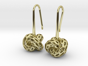D-STRUCTURA Earrings. Stylized Chic in 18k Gold Plated Brass: Medium