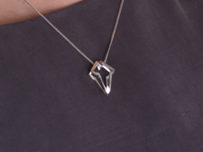HEART TO HEART Luc, Pendant in Polished Silver