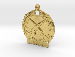 CS:GO Master Guardian Elite Pendant in Polished Brass