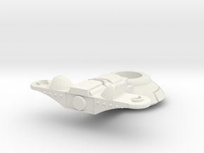 Support SciFI hovertank Turret in White Natural Versatile Plastic