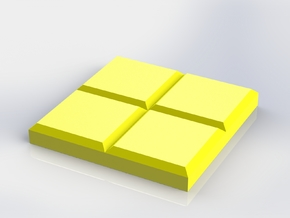 Yellow Square Coaster in Yellow Processed Versatile Plastic