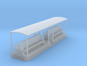 Tramway style coach (full open) in Smooth Fine Detail Plastic