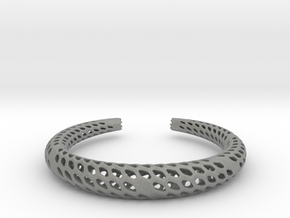 D-Strutura Bracelet Medium Size in Gray PA12