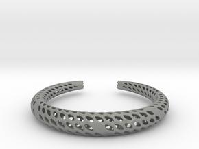 D-Strutura Bracelet Medium Size in Gray PA12