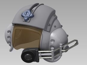 1:4 Scale Pilot Helmet in White Strong & Flexible Polished