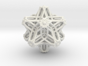 Hedron stars Nest in White Natural Versatile Plastic