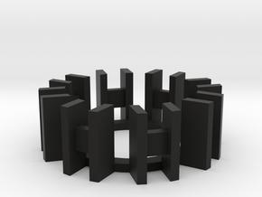 """7/8"""" Arc Reactor Insert 1/3 in Black Natural Versatile Plastic"""