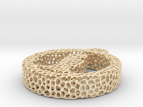 1au_voronoi yoga in 14k Gold Plated Brass
