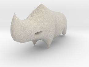 Rhino Sculplture in Natural Sandstone: 15mm