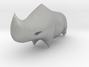 Rhino Sculplture in Aluminum: 15mm