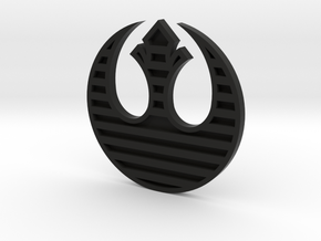 Rebel Alliance Symbol in Black Natural Versatile Plastic