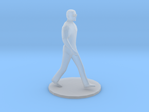 HO Scale Man Walking in Smooth Fine Detail Plastic