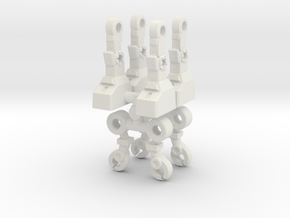 Acroyear Inchman Limbs in White Natural Versatile Plastic: Medium