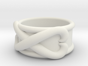 Time Ring - DBS  in White Natural Versatile Plastic: 7 / 54