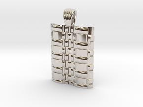 Braided Metal wave [pendant] in Platinum