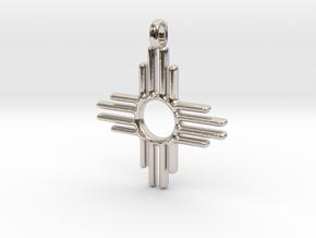 Native Zia Sun Mexico Small Solid Gold 14K Jewelry in Platinum
