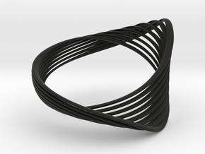 Loopa bracelet - Kukla collection in Black Natural Versatile Plastic: Medium