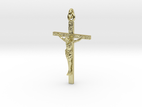 Crucifix in 18k Gold Plated Brass