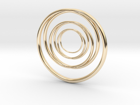Linked Circle1 in 14K Yellow Gold