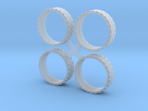 Base 28 Tires (ONLY) in Smooth Fine Detail Plastic