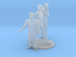 HO Scale Standing Men in Smooth Fine Detail Plastic
