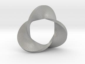 Trefoil moebius - pendant in Aluminum