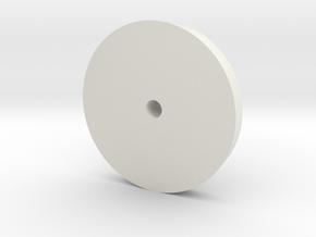 Dog Dish Hubcap 1.9 in White Natural Versatile Plastic