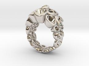 Molecular Ring (From $15 in Rhodium Plated Brass: 6.25 / 52.125