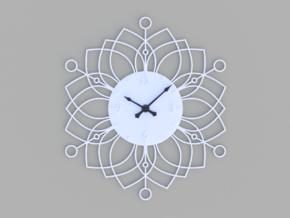 Sunburst Clock - Deanna in White Natural Versatile Plastic