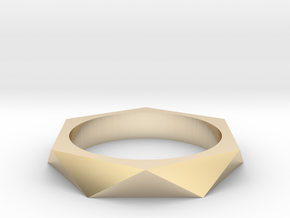 Shifted Hexagon 14.56mm in 14K Yellow Gold