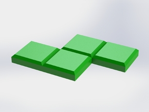 Green Zigzag Coaster in Green Processed Versatile Plastic