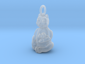 Cat and Mouse Buddha in Smooth Fine Detail Plastic