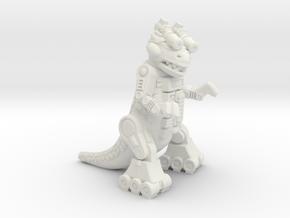 """Ampzilla Figurine (2"""", 1.75"""" and 1"""") in White Natural Versatile Plastic: Small"""
