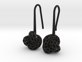 D-Strutura Soft. Smooth Rounded Earrings. in Black Premium Versatile Plastic