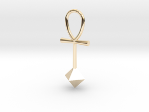 Octahedron energy pendant in 14K Yellow Gold