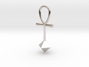 Octahedron energy pendant in Platinum