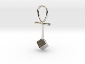 Cube energy pendant in Platinum