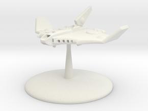 Barracuda Gunship  in White Natural Versatile Plastic